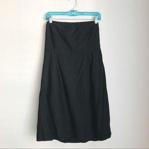 Old Navy black linen strapless dress